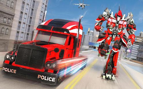 Indian Police Robot Transform Truck v1.14 screenshots 7