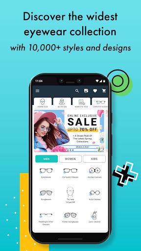 Lenskart Eyeglasses Sunglasses Contact Lenses v3.3.2 screenshots 1