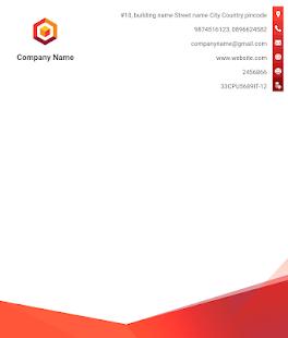 Letterhead Maker Business letter pad template Logo v2.0 screenshots 10