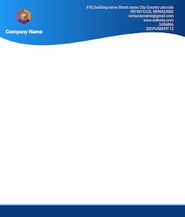 Letterhead Maker Business letter pad template Logo v2.0 screenshots 12
