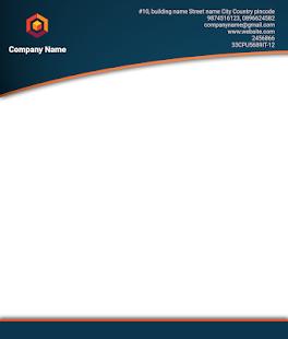 Letterhead Maker Business letter pad template Logo v2.0 screenshots 16