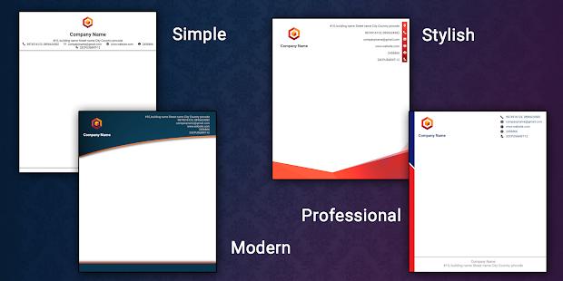 Letterhead Maker Business letter pad template Logo v2.0 screenshots 2