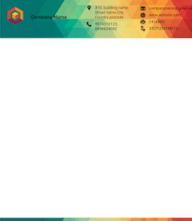 Letterhead Maker Business letter pad template Logo v2.0 screenshots 7