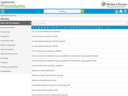 Lippincott Procedures v4.2.91 screenshots 12