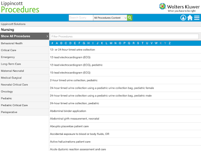 Lippincott Procedures v4.2.91 screenshots 7
