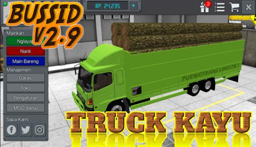 Livery Bussid Mod Truck Kayu v1.5 screenshots 2