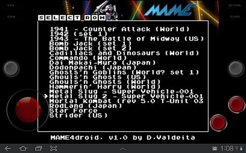 MAME4droid 0.37b5 v1.5.3 screenshots 2