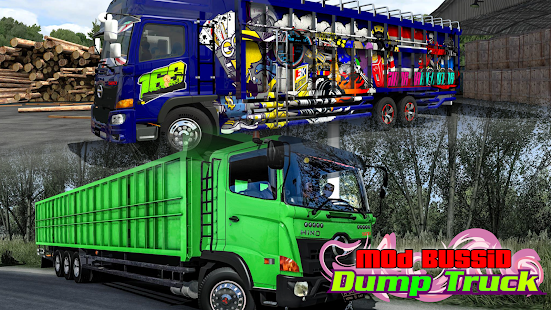 Mod BUSSID Dump Truck v1.6 screenshots 1