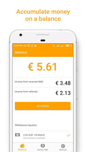 Money SMS Make Money Online v1.0.4-demo screenshots 1