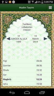Muslim Taqvimi Prayer times v1.2.9 screenshots 1