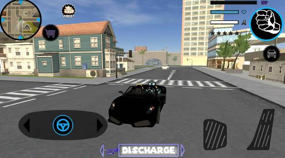 Neon Iron Stickman Rope Hero City Gangstar Mafia v1.6 screenshots 5