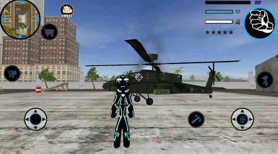 Neon Iron Stickman Rope Hero City Gangstar Mafia v1.6 screenshots 8