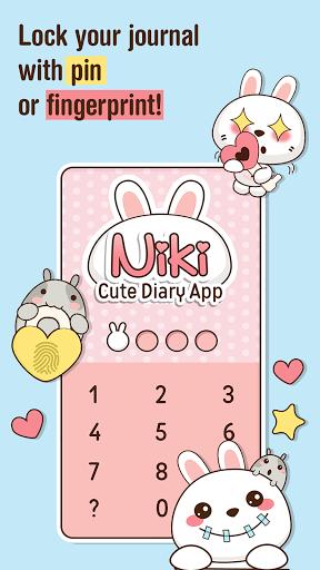 Niki Cute Diary App v4.2.9 screenshots 1