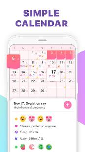 Period Tracker Ovulation Calendar amp Fertility app v1.67.68.GP screenshots 2