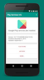 Play Services Info Update v0.15 screenshots 1