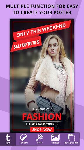 Poster Maker Flyer Designer Ads Page Designer v3.7 screenshots 2
