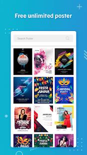 Poster Maker Flyers Banner Logo Ads Page Design v screenshots 2