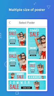 Poster Maker Flyers Banner Logo Ads Page Design v screenshots 3