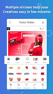 Poster Maker Flyers Banner Logo Ads Page Design v screenshots 7