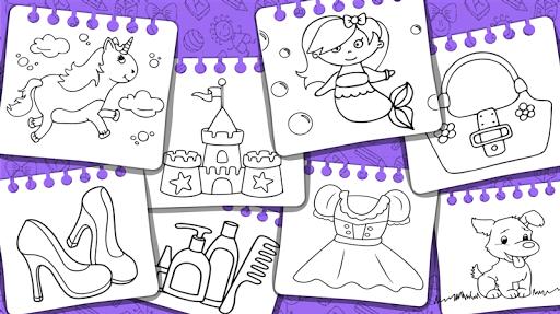 Princess Coloring Book amp Games v1.54 screenshots 24