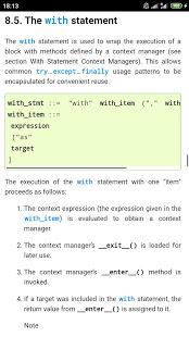 Python 3.7 Docs v1.1.0 screenshots 6