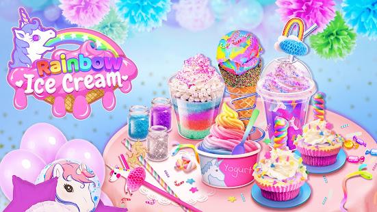 Rainbow Ice Cream – Unicorn Party Food Maker v1.8 screenshots 1