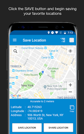 Save Location GPS v7.0 screenshots 1
