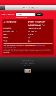Sri Lanka Vehicle Info v2.1.0 screenshots 3