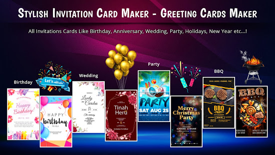 Stylish Invites Easy Invitation Card Maker v screenshots 1