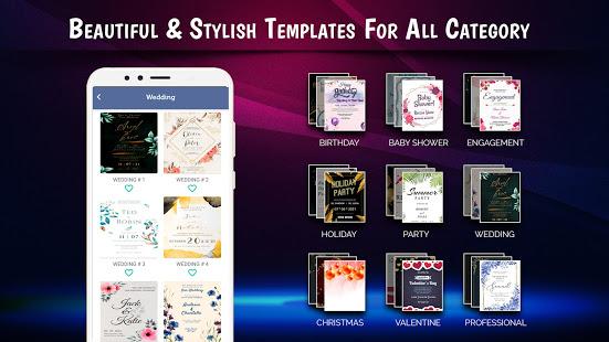 Stylish Invites Easy Invitation Card Maker v screenshots 2