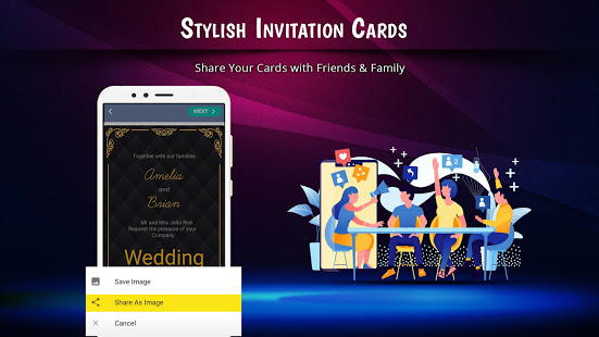 Stylish Invites Easy Invitation Card Maker v screenshots 5