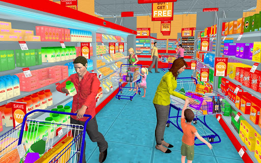 Supermarket Grocery Shopping Mall Family Game v1.8 screenshots 1