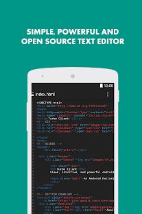 Turbo Editor Text Editor v2.4 screenshots 1