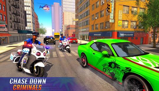 US Police Bike 2020 – Gangster Chase Simulator v screenshots 1