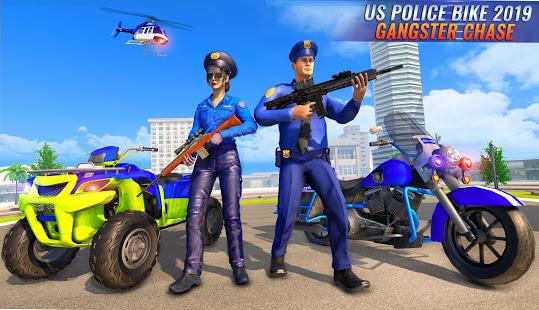 US Police Bike 2020 – Gangster Chase Simulator v screenshots 4