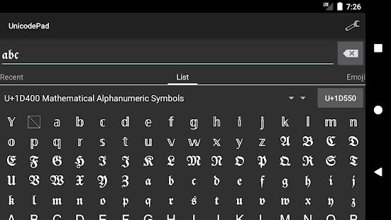 Unicode Pad v2.9.1 screenshots 4