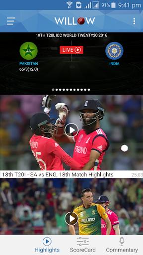 Willow – Watch Live Cricket v2.9 screenshots 2