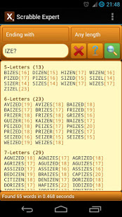 Word Expert for SCRABBLE v4.7 screenshots 4