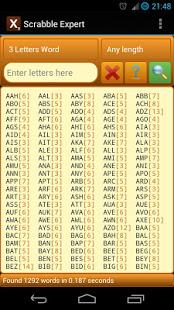 Word Expert for SCRABBLE v4.7 screenshots 5