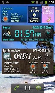 World Weather Clock Widget v8.018 screenshots 3