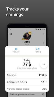 Yandex Pro TaximeterDriver job in taxi for ride v9.87 screenshots 5
