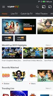 YuppTV – LiveTV Movies Music IPL Live Cricket v7.9.3 screenshots 1
