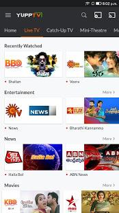 YuppTV – LiveTV Movies Music IPL Live Cricket v7.9.3 screenshots 2