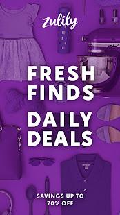 Zulily Fresh Finds Daily Deals v5.64.0 screenshots 1