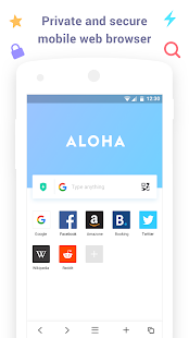 Aloha Browser Lite – Private browser and free VPN v1.7.1 screenshots 1
