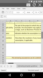 AndroXLS editor for XLS sheets v6.4.4 screenshots 1