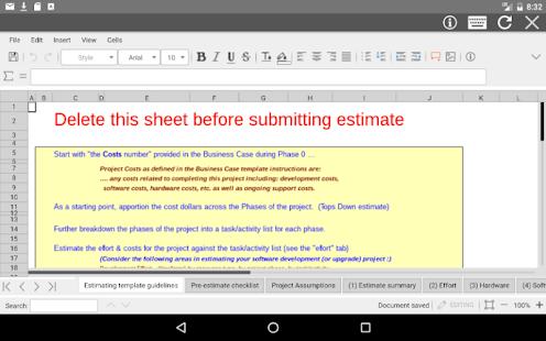 AndroXLS editor for XLS sheets v6.4.4 screenshots 5