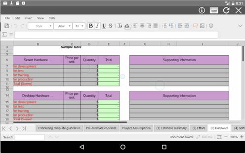 AndroXLS editor for XLS sheets v6.4.4 screenshots 6