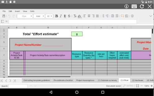 AndroXLS editor for XLS sheets v6.4.4 screenshots 8