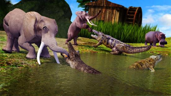 Animal Attack Simulator – Crocodile Games offline v1.0.47 screenshots 4